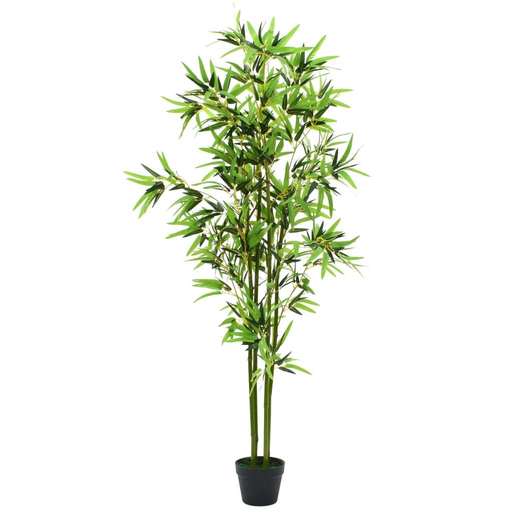 Kunsttaim bambus potiga 175 cm, roheline