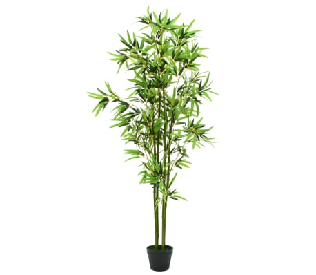 "vidaXL Artificial Bamboo Plant with Pot 68.9"" Green[1/3]"