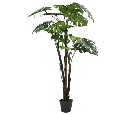 vidaXL Artificial Monstera Plant with Pot 130 cm Green