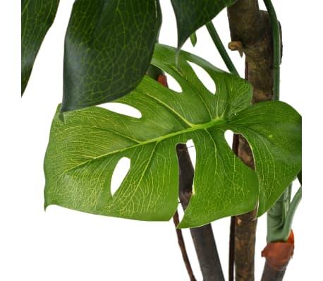 "vidaXL Artificial Monstera Plant with Pot 51.2"" Green[2/2]"