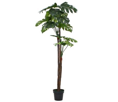 vidaXL Plante artificielle avec pot Monstera 170 cm Vert