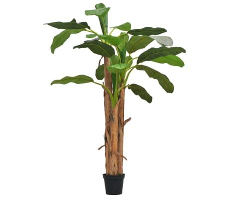 vidaXL Künstlicher Bananenbaum mit Topf 250 cm Grün