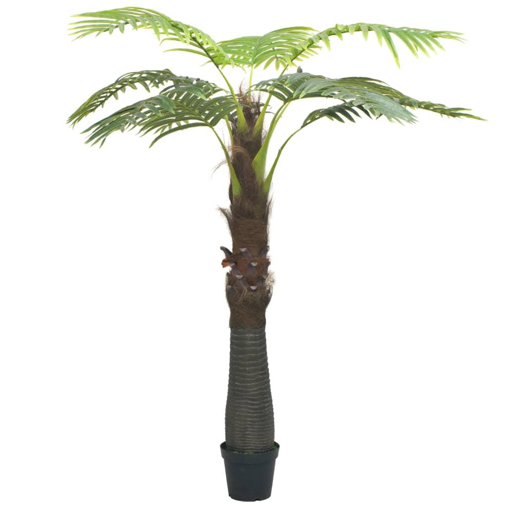 vidaXL Umělá palma s květináčem 240 cm zelená