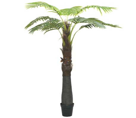 vidaXL Artificial Palm Tree with Pot 240 cm Green