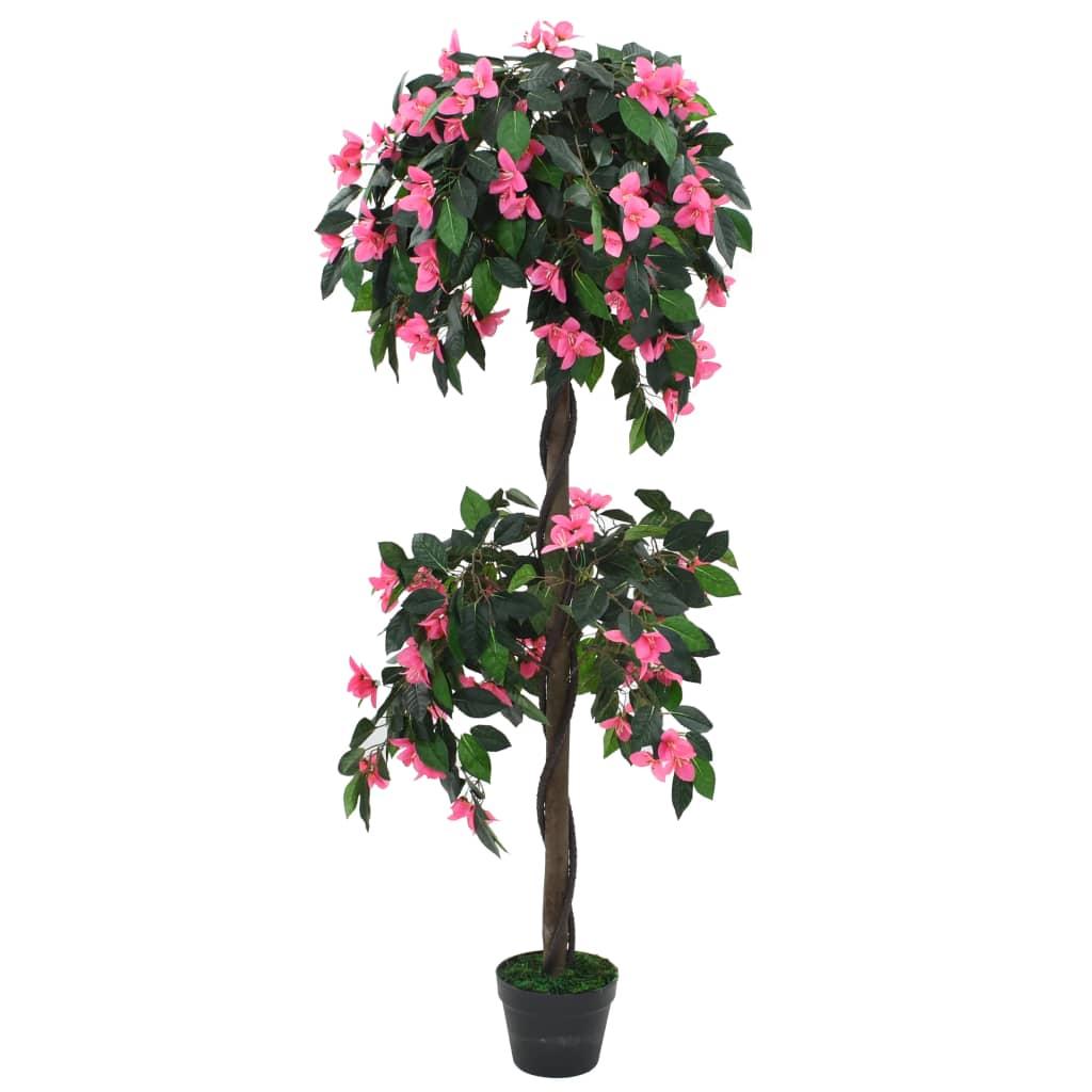 vidaXL Plantă artificială Rododendron cu ghiveci 310 cm Verde și roz imagine vidaxl.ro