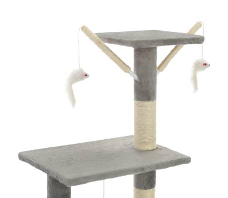 vidaXL Arbre à chat avec griffoirs en sisal 138 cm Gris[6/8]