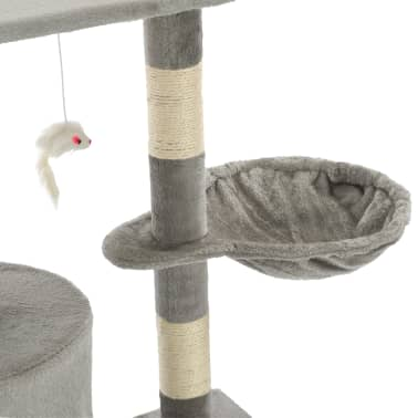vidaXL Arbre à chat avec griffoirs en sisal 138 cm Gris[7/8]