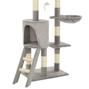 vidaXL Arbre à chat avec griffoirs en sisal 138 cm Gris[8/8]