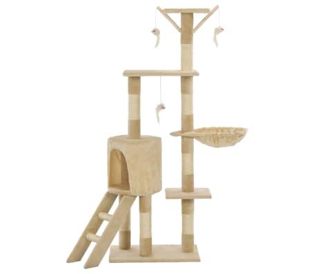 vidaXL Kissan raapimispuu sisal-pylväillä 138 cm beige[3/8]