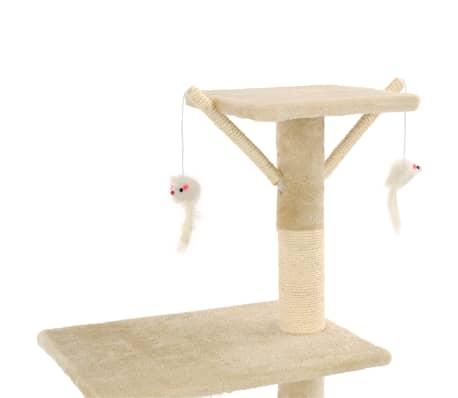 vidaXL Kissan raapimispuu sisal-pylväillä 138 cm beige[6/8]