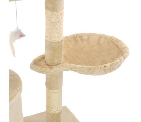 vidaXL Kissan raapimispuu sisal-pylväillä 138 cm beige[7/8]