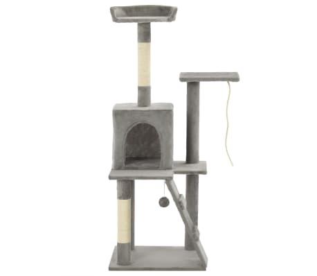vidaXL Arbre à chat avec griffoirs en sisal 120 cm Gris