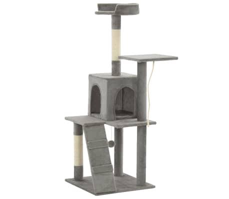 vidaXL Rascador para gatos con poste de sisal 120 cm gris[3/7]
