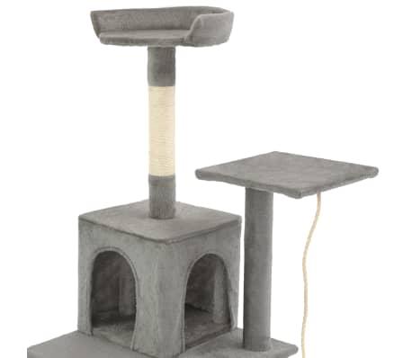 vidaXL Albero per Gatti con Tiragraffi in Sisal 120 cm Grigio[5/7]