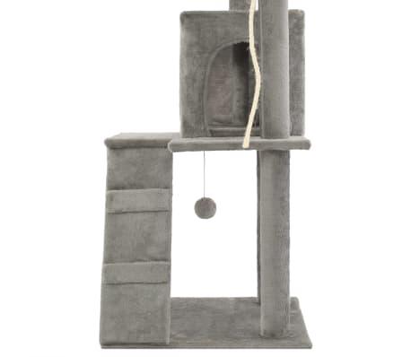 vidaXL Rascador para gatos con poste de sisal 120 cm gris[6/7]