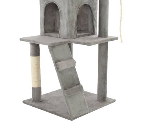 vidaXL Rascador para gatos con poste de sisal 120 cm gris[7/7]