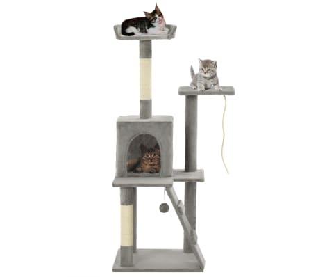 vidaXL Rascador para gatos con poste de sisal 120 cm gris[1/7]