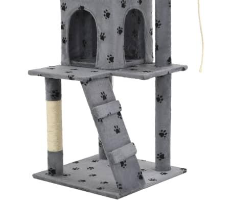 vidaXL Kattenkrabpaal met sisalpalen 120 cm pootafdrukken grijs[7/7]