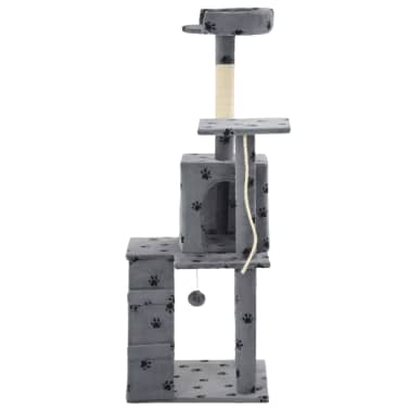 vidaXL Kattenkrabpaal met sisalpalen 120 cm pootafdrukken grijs[4/7]