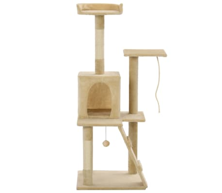 vidaXL Cat Tree with Sisal Scratching Posts 120 cm Beige[2/7]