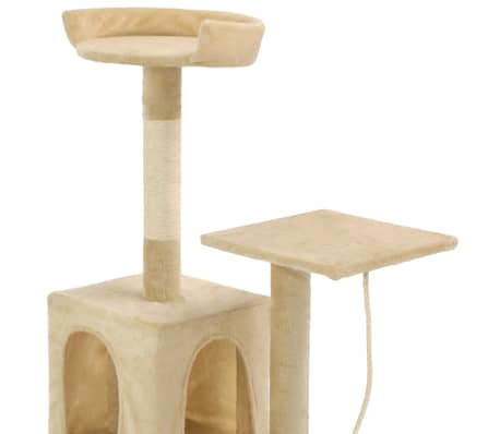 vidaXL Cat Tree with Sisal Scratching Posts 120 cm Beige[5/7]