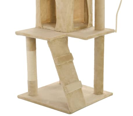vidaXL Cat Tree with Sisal Scratching Posts 120 cm Beige[7/7]