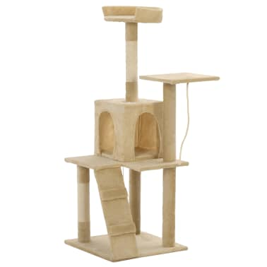 vidaXL Cat Tree with Sisal Scratching Posts 120 cm Beige[3/7]
