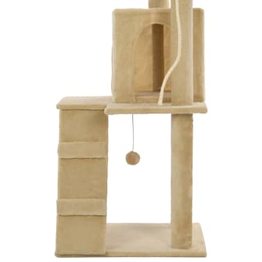 vidaXL Cat Tree with Sisal Scratching Posts 120 cm Beige[6/7]