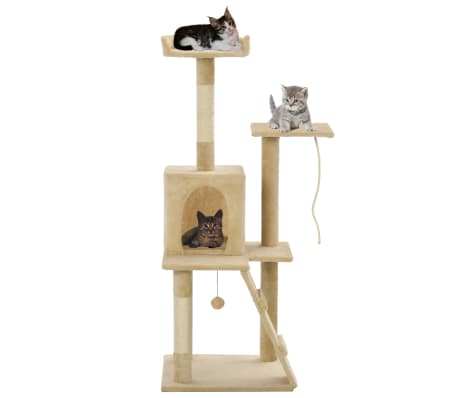 vidaXL Cat Tree with Sisal Scratching Posts 120 cm Beige[1/7]