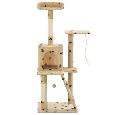 vidaXL Cat Tree with Sisal Scratching Posts 120 cm Beige Paw Prints[2/7]
