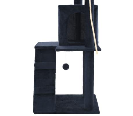 vidaXL Mačje drevo s praskalniki iz sisala 120 cm temno modre barve[6/7]