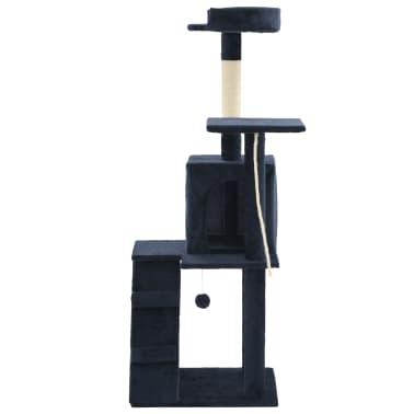 vidaXL sötétkék macskabútor szizál kaparófákkal 120 cm[3/7]