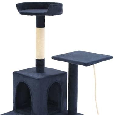 vidaXL sötétkék macskabútor szizál kaparófákkal 120 cm[5/7]