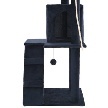 vidaXL sötétkék macskabútor szizál kaparófákkal 120 cm[6/7]