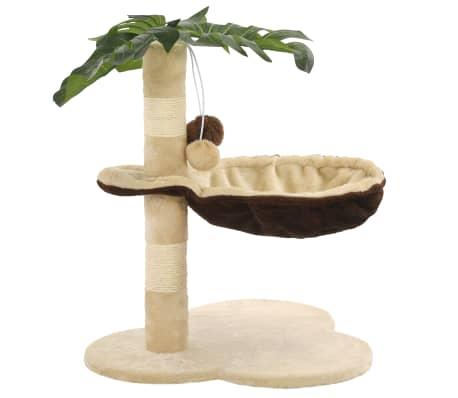 vidaXL Rascador para gatos con poste de sisal 50 cm beige y marrón[2/7]