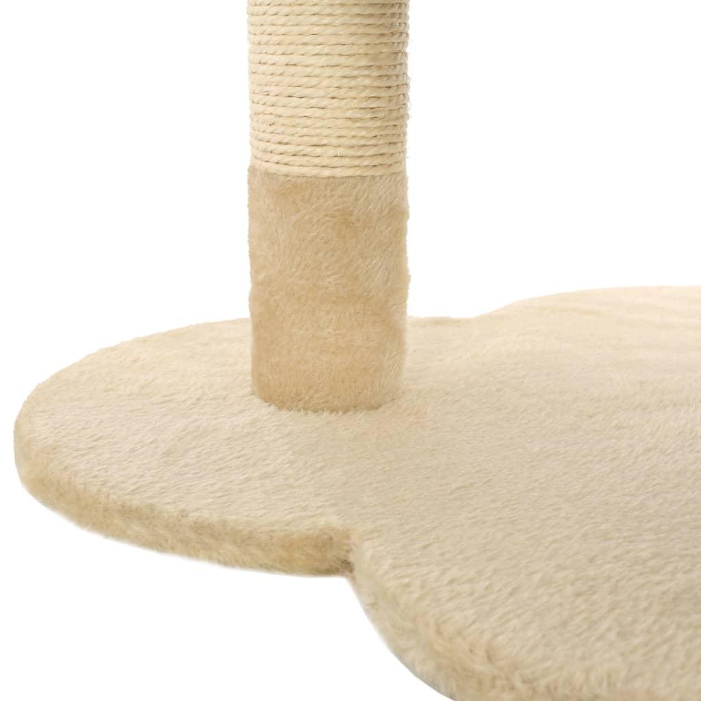 vidaXL Škrabadlo pro kočky se sisalovými sloupky 50 cm béžovo-hnědé