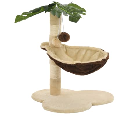 vidaXL Katzen-Kratzbaum mit Sisal-Kratzstange 50 cm Beige und Braun[4/7]