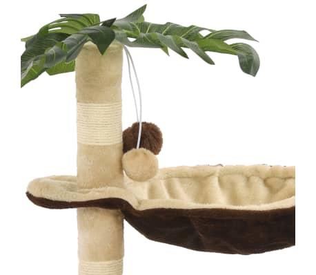 vidaXL Rascador para gatos con poste de sisal 50 cm beige y marrón[6/7]