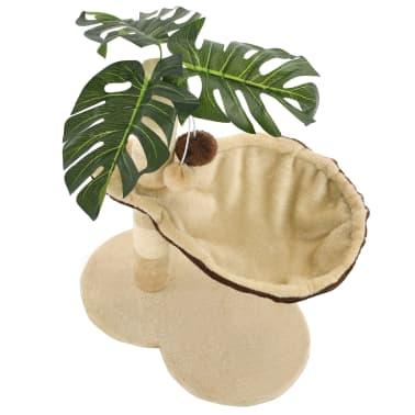 vidaXL Rascador para gatos con poste de sisal 50 cm beige y marrón[5/7]