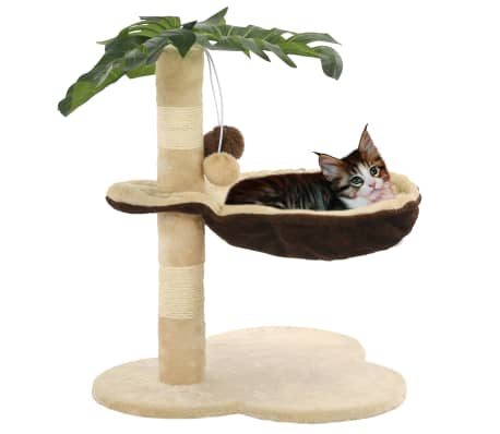 vidaXL Rascador para gatos con poste de sisal 50 cm beige y marrón[1/7]
