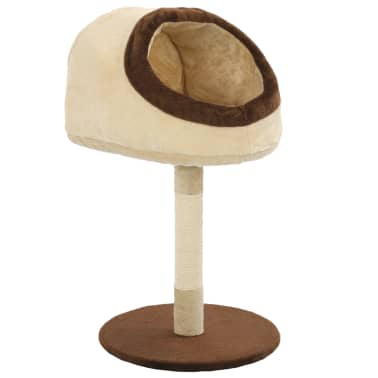 vidaXL Cat Tree with Sisal Scratching Post 72 cm Beige and Brown[2/7]