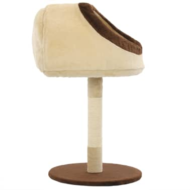 vidaXL Cat Tree with Sisal Scratching Post 72 cm Beige and Brown[4/7]