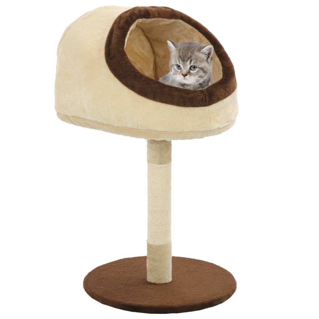 vidaXL Škrabadlo pro kočky se sisalovými sloupky 72 cm béžovo-hnědé