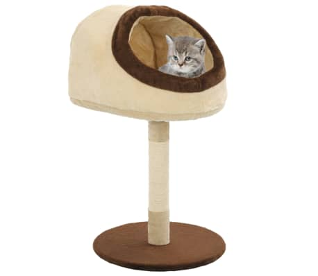 vidaXL Cat Tree with Sisal Scratching Post 72 cm Beige and Brown[1/7]