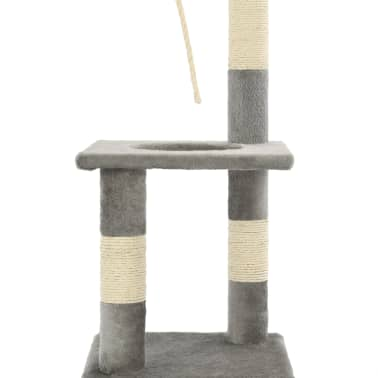 vidaXL Albero per Gatti con Tiragraffi in Sisal 109 cm Grigio[6/7]