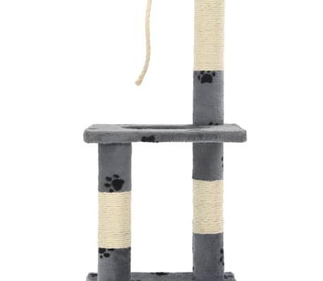 vidaXL Árvore para gatos c/postes arranhadores sisal 109 cm cinzento[6/7]