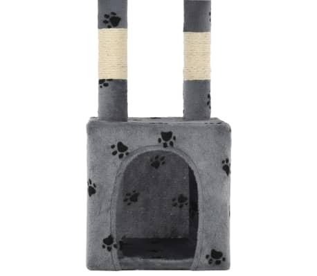 vidaXL Árvore para gatos c/postes arranhadores sisal 109 cm cinzento[7/7]