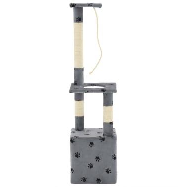vidaXL Árvore para gatos c/postes arranhadores sisal 109 cm cinzento[4/7]