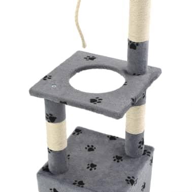 vidaXL Árvore para gatos c/postes arranhadores sisal 109 cm cinzento[5/7]