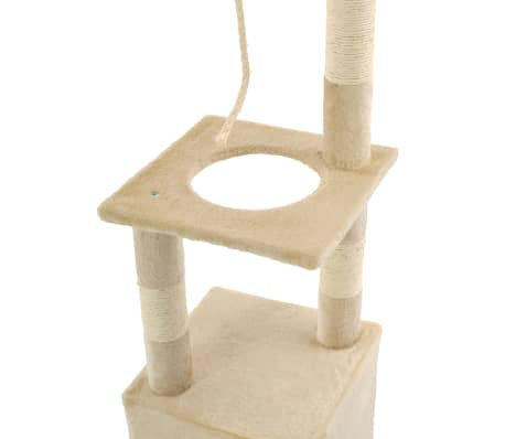 vidaXL Cat Tree with Sisal Scratching Posts 109 cm Beige[5/7]